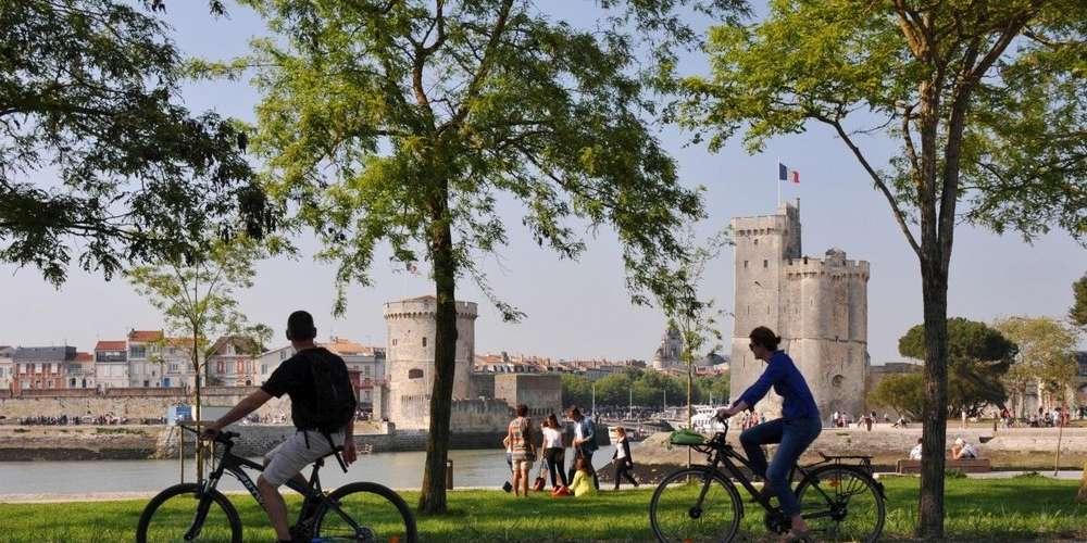 Pistes cyclables à La Rochelle
