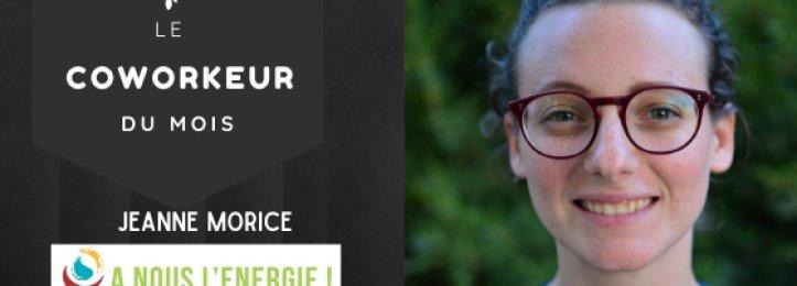 Portrait du mois - Jeanne Morice