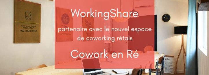 WorkingShare et Cowork en Ré sont désormais partenaires