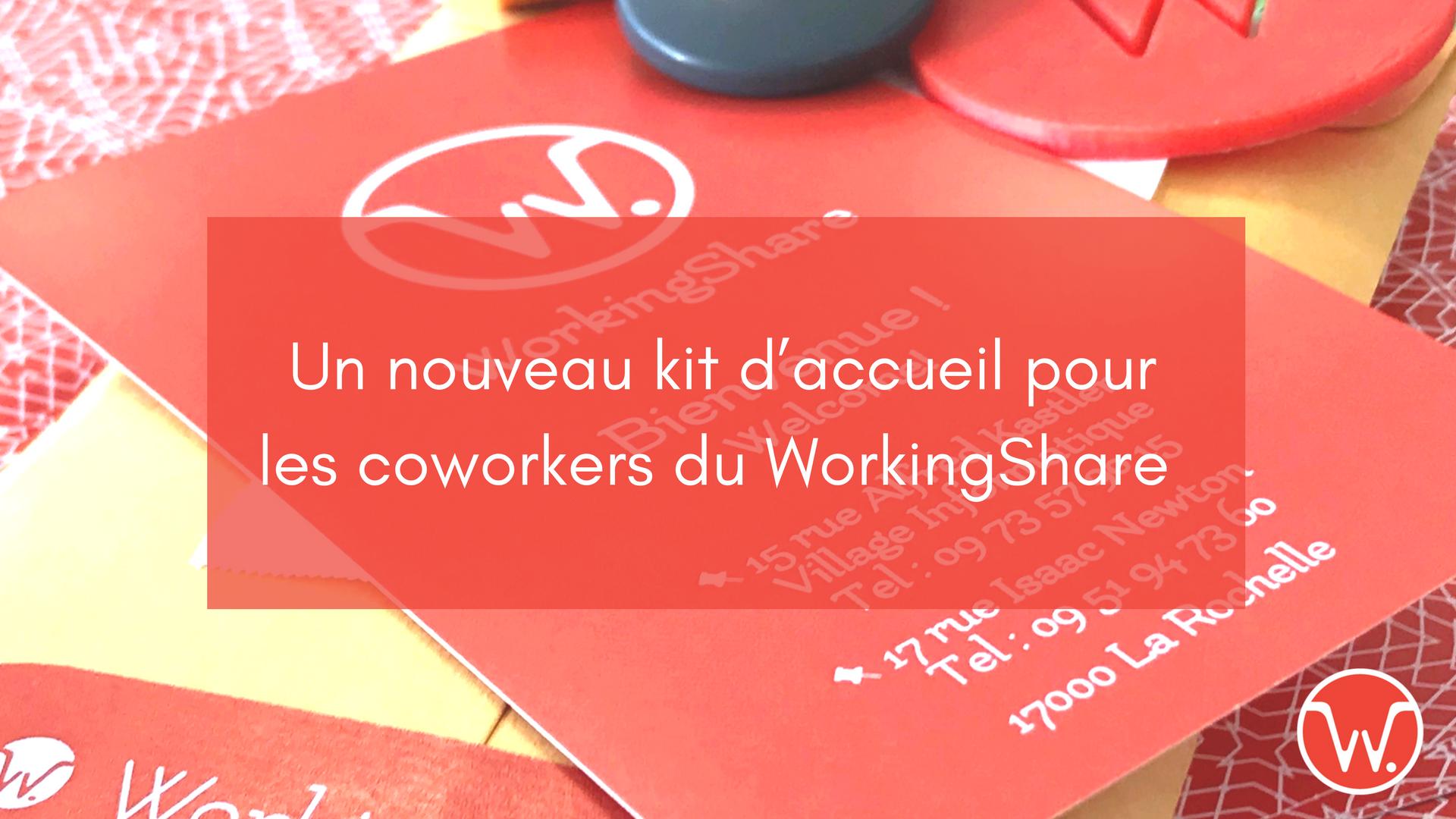 Un nouveau kit d'accueil pour les coworkers du WorkingShare